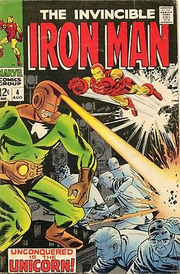 1968 Marvel Comics Iron Man #4 - Silver Age / B&b