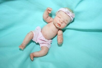 OOAK Polymer Clay Baby Girl Jointed  Sculpt by Marlo Elswick Baby Bright Eyes