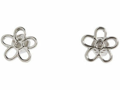Marc By Marc Jacobs Silver Plum Hollow Stud Earrings #e0202