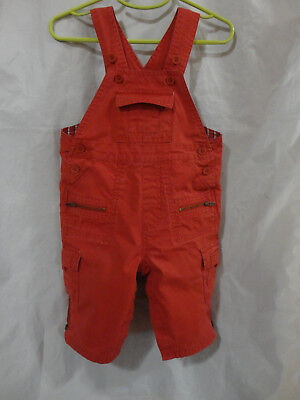 babyGap Toddler 6-12 mo Rust Color Lined Overalls  VGUC