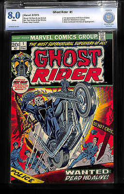 Ghost Rider #1 CBCS 8.0 White pages 1st app Son of Satan (Damieon Hellstorm)