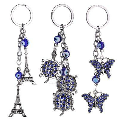 Chic Evil Eye Keyring Keychain Purse Bag Key Ring Chain Charm Pendant Decor Gift