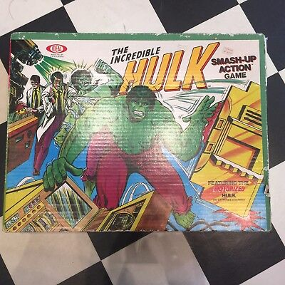 IDEAL Vintage The Incredible HULK Smash-up Action Game in Box 1979 Marvel Comics