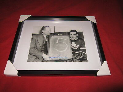 Howie Meeker 5 Goal Games Signed Toronto Maple Leafs Framed 8X10 Photo