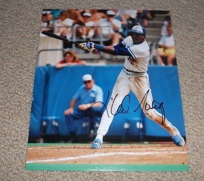 LLOYD MOSEBY - Autographed Toronto Blue Jays 8x10 Photo *Signed*