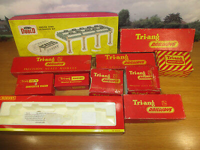 9Fp Lot Of Hornby & Tri Ang Empty Boxes R50 Engine Shed R52 R79 R42 R331 R79+++