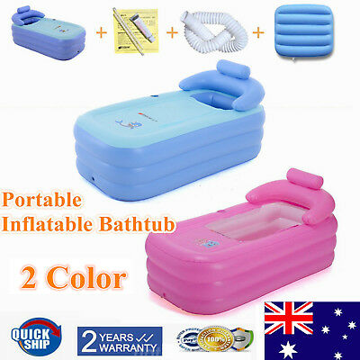 Portable Inflatable Blowup PVC Bath Tub Foldable Home Indoor Travel Spa Relaxing