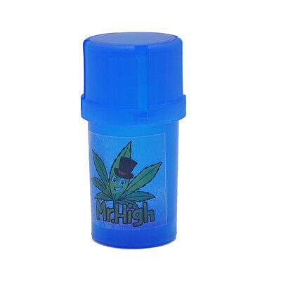1 X Mr.High New Smell Proof Dry Herb Stash Can&Grinder Case Plastic Air Tight