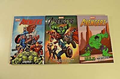 Lot of 3 MARVEL AVENGERS / HULK AND FANTASTIC 4 All Ages Graphic Novels NEW