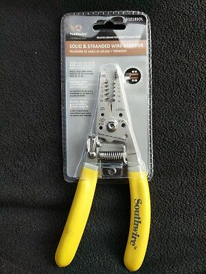 Southwire Solid & Stranded Wire Stripper S1018SOL Stainless Steel