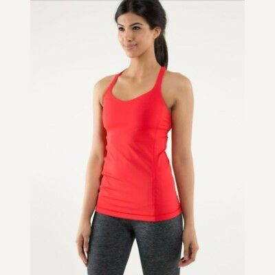 Lululemon Athletica Women's Free to Be Tank Love Red Size 10 Fitness Top Yoga