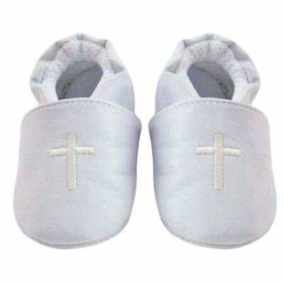 Baby Boy Girl Cross Baptism Christening Shoes Church Soft Sole Leather Shoes NEW