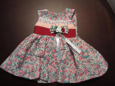 PINK and TURQUOISE ROSE  DRESS Fits CHATTY CATHY FREE SHIPPING