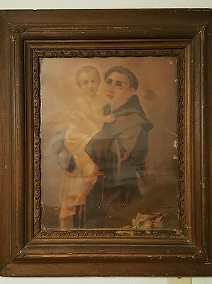 ANTIQUE Saint Anthony Padua circa 1880-90's picture.  SAN ANTONIO City's 300th