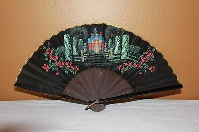 Antique/vintage Asian Hand Painted Hand Held Fan