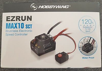 Hobbywing Max 10 120 Amp Sct Water Proof Esc Genuine And Sealed