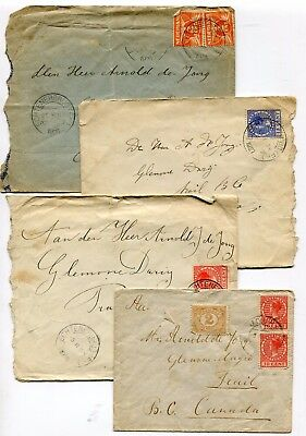 Canada BC Trail 1926 / 1927 Faulty but Historic Incoming Covers to Glenone Dairy