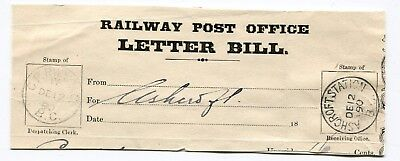 Canada BC CPR Railway RPO 1890 C.P.RWY M.C / BC - CDS PIECE Mounted on Card