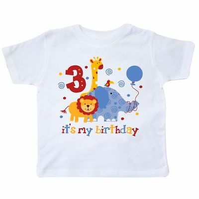 Inktastic Safari 3rd Birthday Toddler T-Shirt Jungle Lion Elephant Giraffe Wild