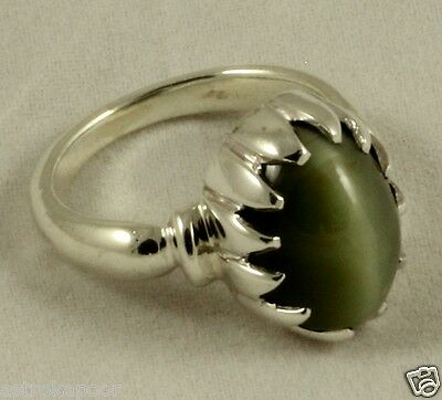 4 To 15 CT CATS EYE Sterling Silver Ring 100% Natural Beautiful AAA+ Quality PL