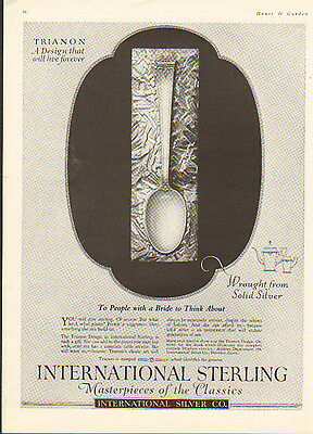 """1923 International Sterling silverware ad  """"Wrought from Solid Silver"""" -/710"""