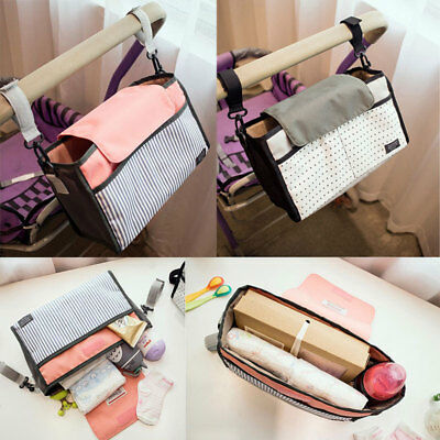 Potable Baby Pram Diaper Storage Bag Stroller Organizer Pushchair Bottle Pouch