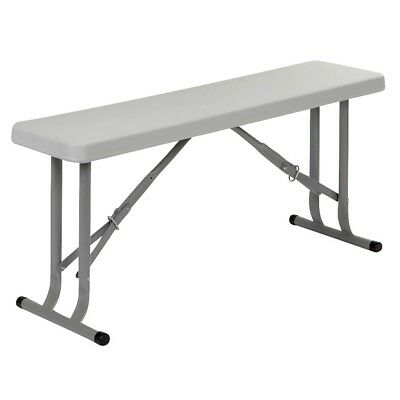 Red Mountain Folding Bench Camping Hiking Indoor Outdoor Steel White 1404371