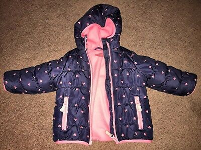 Euc 12 Month Baby Girl Carters Winter Coat