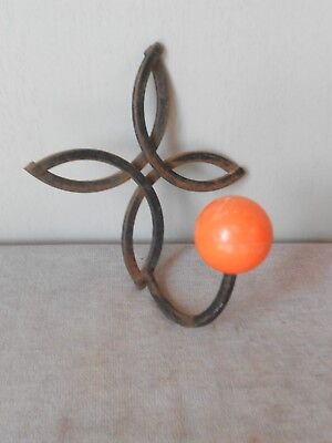Vintage french wrought iron MODERNIST Coat Rack