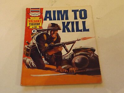 VALIANT PICTURE LIBRARY,NO 93,1967 ISSUE,V GOOD FOR AGE,50 yrs old,V RARE COMIC.