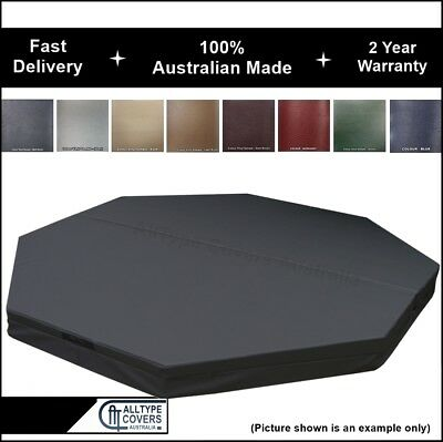 Custom Australian Made Lockable Insulated Hard OCTAGON Spa Cover-2 Year Warranty