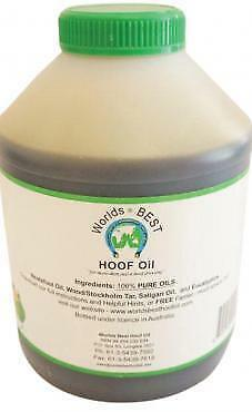 WORLDS BEST HOOF OIL 1 litre PLASTIC JAR WITH BRUSH
