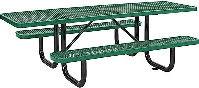 96' ADA Expanded Metal Picnic Table, Green