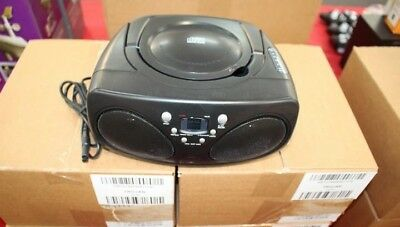 Black Portable Boombox, CD, Radio, FM, AM