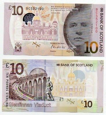 Now In-Hand: Consecutive Bank of Scotland Glenfinnan Steam Train UNC £10 Notes