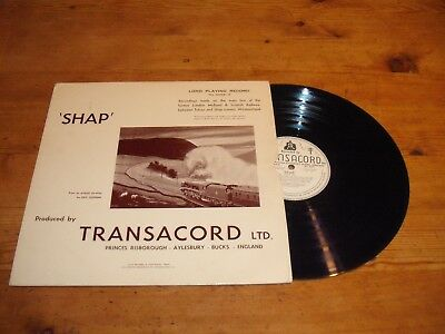 """Shap - Transacord Steam Sound Effects - 12"""" LP - 1960 - Scarce Early Recording"""