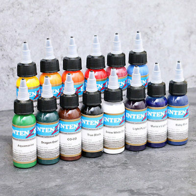 Salone Pure Bright Tattoo Ink 1oz 30ml / Bottiglia Tatuaggio Pigment Kit 10 colo