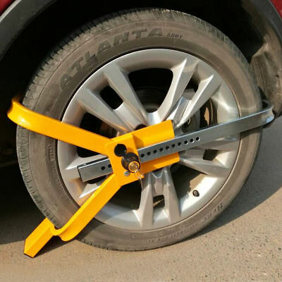 "13"" 14"" 15"" Steel Car Van Wheel Clamp Safety Lock for Caravan Trailer Heavy Duty"