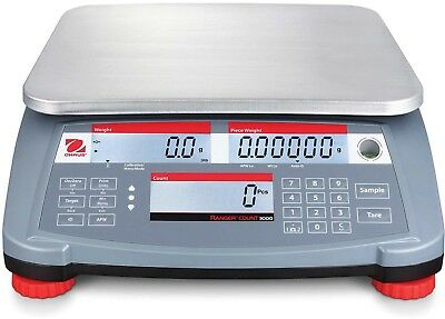 Ohaus Ranger Count 3000 Compact Digital Counting Scale 6lb X 0.002lb 11-13/16'
