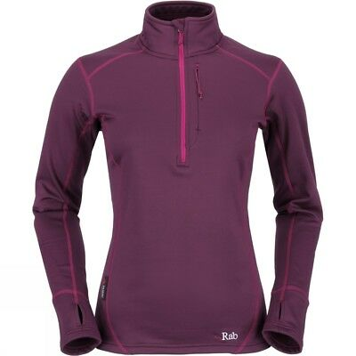 Women's Rab Power Stretch Pull-On Polartec Mid-Layer Top RRP £70