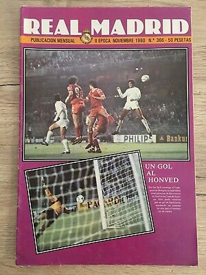 Magazine Official Real Madrid Limerick Honved Real Madrid European Cup 1980