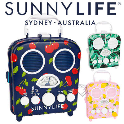 NEW Sunnylife Beach Sounds Bluetooth Smartphone Speakers & Radio Water Resistant