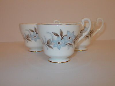 3 x Royal Standard Fine Bone China Cups Dawn Floral Design Small Cups Lovely