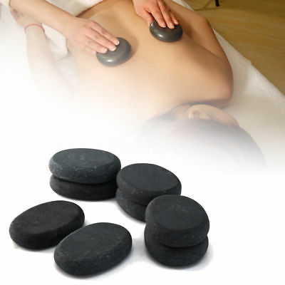 7pcs Hot Health Spa Rock Basalt Stones Massage Lava Natural Stone for Body&Face