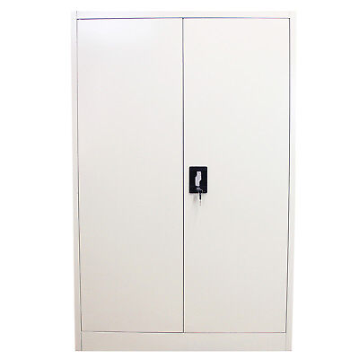 Metal Office Furniture 2 Door Filing Cabinet Storage Document Lockable 140cm
