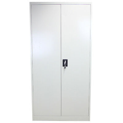 Metal Office Furniture 2 Door Filing Cabinet Storage Document Lockable 180cm