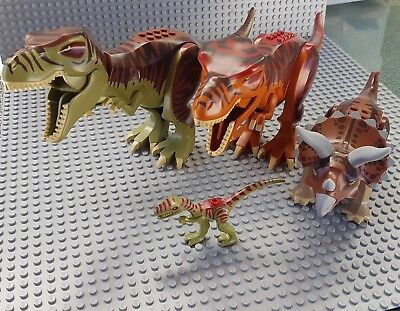 Genuine Lego Dinosaurs x4 From Dino Attack Defense sets T Rex Raptor +++++