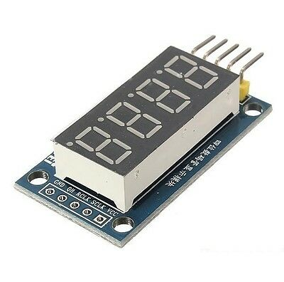5x 4 Bits Digital Tube LED Display Module With Clock Display TM1637 for Arduino