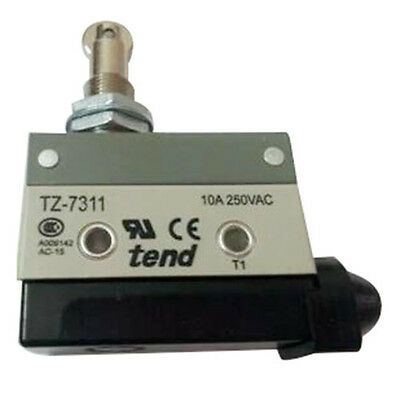 K9 TZ-7311 Parallel Roller Plunger Actuator Momentary Micro Switch Gray+Black