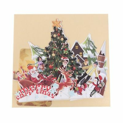 Handmade 3d Pop Up Greeting Cards Holiday Merry Christmas Party Anniversary Gift